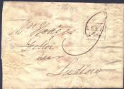 1816 Entire Letter Leek to Ludlow